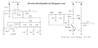 Low Frequency Sine wave Generators Schematic - Learn Circuit