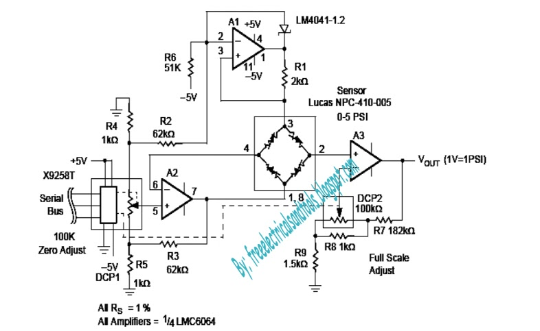 programmable pressure transducer circuit