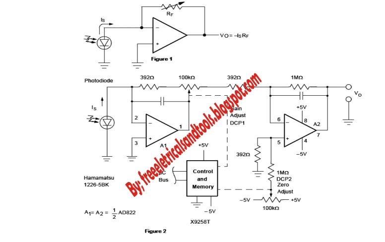 Free Schematic Diagram: Photovoltaic as Sensor Circuits