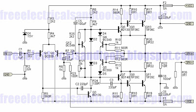 the principle work and specification guitar power amplifier is power  transistors will have an easy time driving any load down to 4 ohms