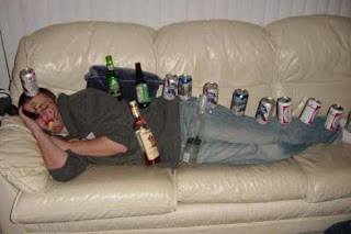 very drunk