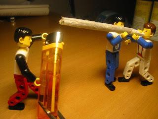 lego toys smoke cigaret