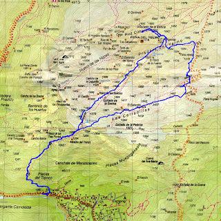 Plano de rutas de El Yelmo