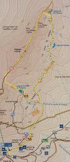 mapa de la zona de Peñalara