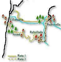 mapa de la ruta de las xanas