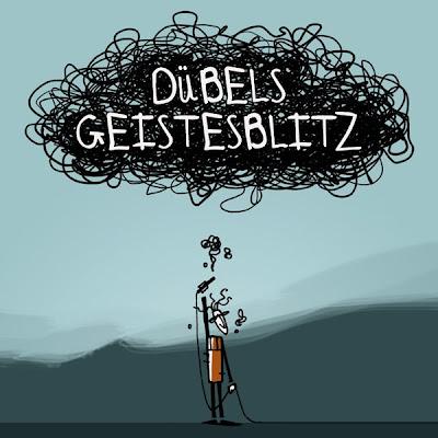 Logo Dübels Geistesblitz Skizzen Scribbles von Michael Mantel