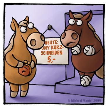 heute Pony kurz schneiden kurzschneiden Friseur Friseurtermin Haare Verband Cartoon Cartoons Witze witzig witzige lustige Bilder Bilderwitz Bilderwitze Comic Zeichnungen lustig Karikatur Karikaturen Illustrationen Michael Mantel lachhaft Spaß Humor Witz