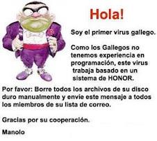 El primer virus gallego