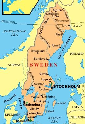 Sweden And Me Map Of Sweden - Sweden map ostersund