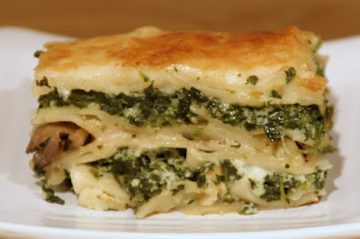 Is It EDible?: Spinach and Mushroom Lasagna