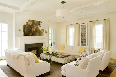 who used Benjamin Moore s  Simply White  paint for every surface   Calcutta Gold marble and antique white oak floors  The living room and  master bedroom  milk and honey  May 2008. Antique White Paint For Living Room. Home Design Ideas