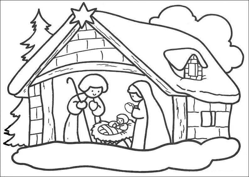 Desenhos Para Pintar E Colorir.: Presepio De Natal