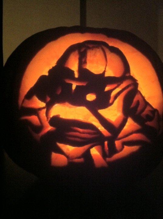Fraley family pumpkin carving for Buzz lightyear pumpkin template