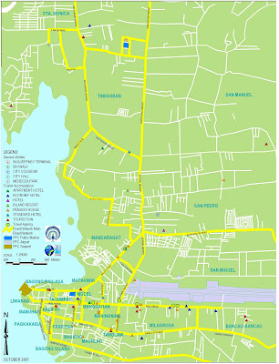 Puerto Princesa MAP: October 2007 on london street map, san juan street map, angeles city street map, baltimore street map, baku street map, hong kong street map, belfast street map, lisbon street map, san pablo city street map, quezon city street map,