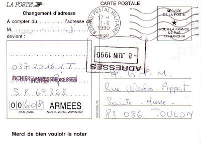 La poste aux armees la cr ation d 39 un code postal pour la poste aux arm es - La poste changement d adresse temporaire ...