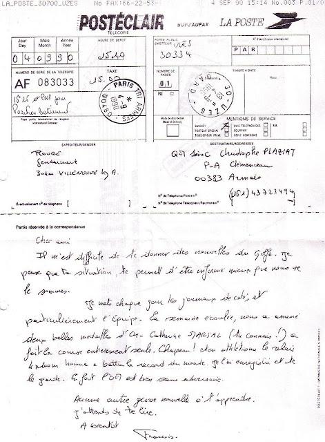 La poste aux armees t l copie de la poste posteclair tarif sp cial lors de la guerre du golfe - Bureau de poste paris 15 ...