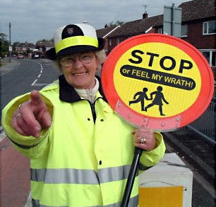 crossing guard old lady