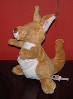 eyeless stuffed kangaroo