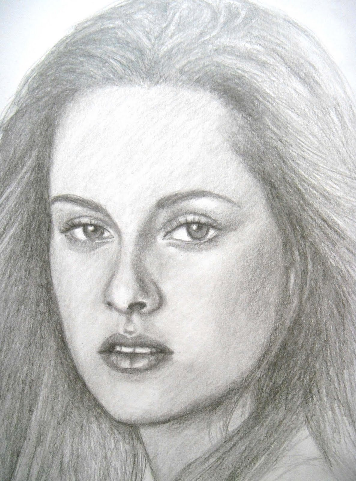 Grace In Progress: A pencil portrait of KRISTEN STEWART