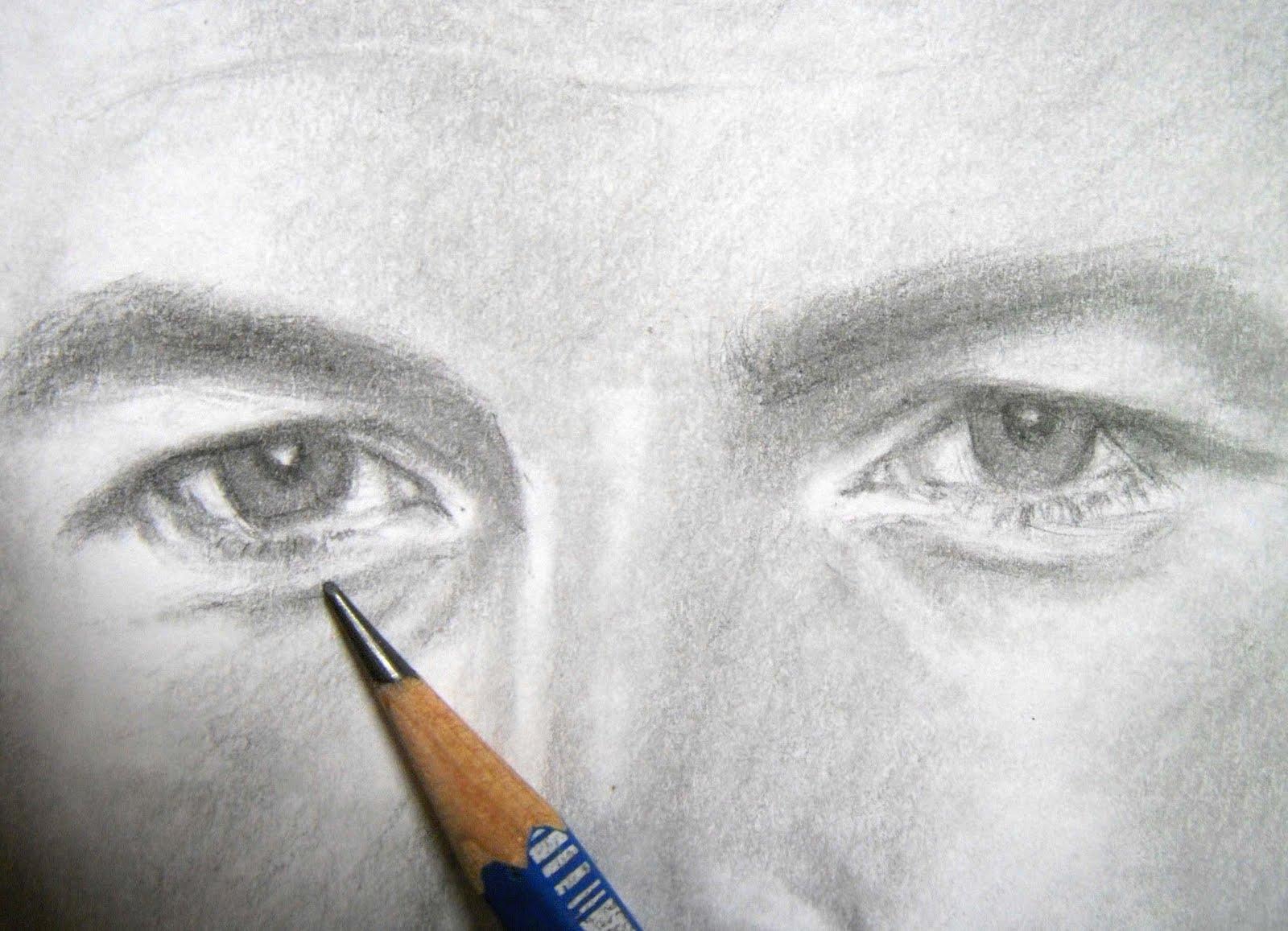 Grace In Progress: A pencil portrait of SAM WORTHINGTON