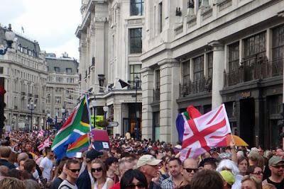London Gay Pride parade 2008 in Central London