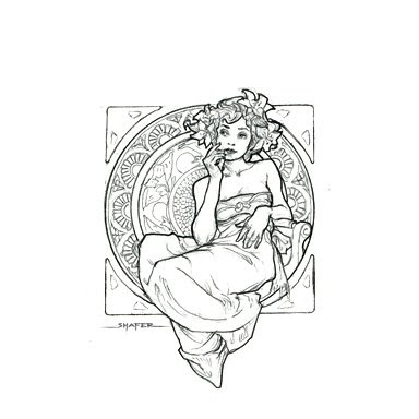 art nouveau tattoos. Art Nouveau Ladies