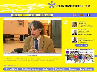 Carlos Carnero entrevistado en Europocket.tv sobre comercio internacional