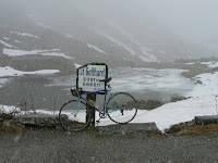 St Gothard bicycle on St Gotthard pass