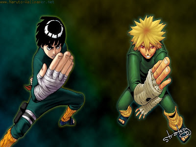 Naruto Uzumaki and Rock Lee