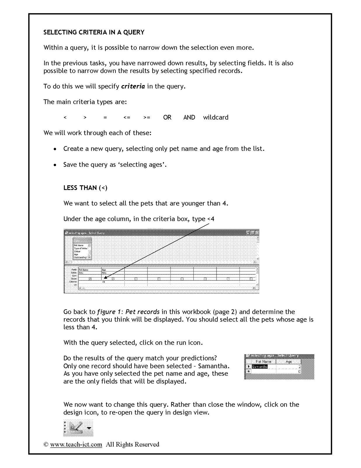 World Of Ict Lesson 6 Data Handling Task Workbook 2