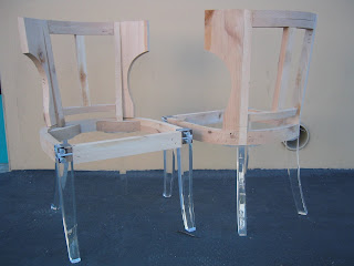 Custom Acrylic Lucite Chair Legs And Chair By Aaron R Thomas Custom Furniture Design By Aaron