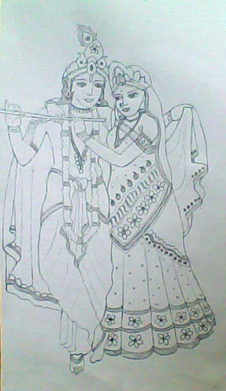 Pencil Drawing Krishna And Radha Pencildrawing2019