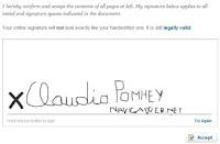 Firma digitale online per documenti e contratti scritta a mano su PC e cellulari