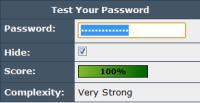 password sicure account