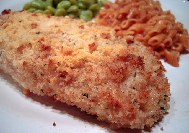 Parmesan Ranch Chicken - such an easy and delicious weeknight meal! Chicken dipped in Ranch dressing and coated in panko bread crumbs, parmesan cheese, garlic, salt and pepper Baked, not fried! The whole family cleaned their plate! This one is a winner!