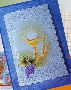 Las manualidades de claudia todo sacado de la web - Como hacer tarjetas de comunion ...
