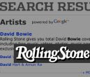Rolling Stone AJAX Search Screenshot