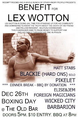 Boxing Day Benefit Gig for Lex Wotton