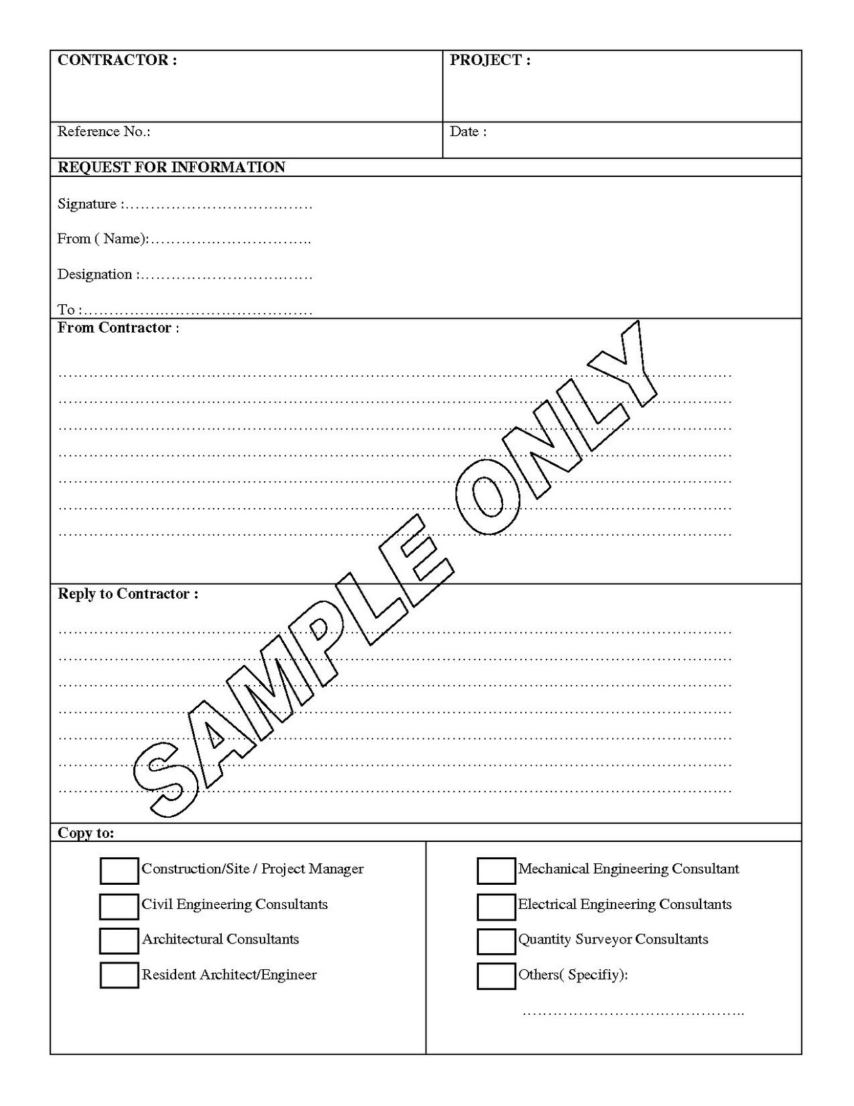 sample rfp response template 8 free documents in pdf rfi rfp – Construction Form Templates