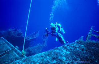 Diver on a wreck
