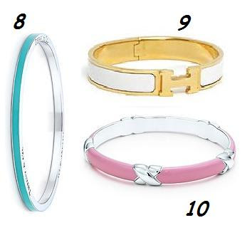 Tiffany Enamel Bracelet Alert