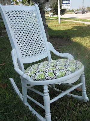 White Refinished Rocking Chair
