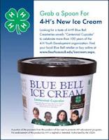 Bluebell ice cream: 4-H Centennial Cupcake