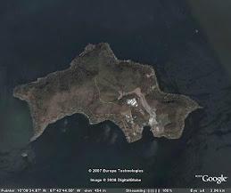VISTA SATELITAL DE LA ISLA DE TACARIGUA