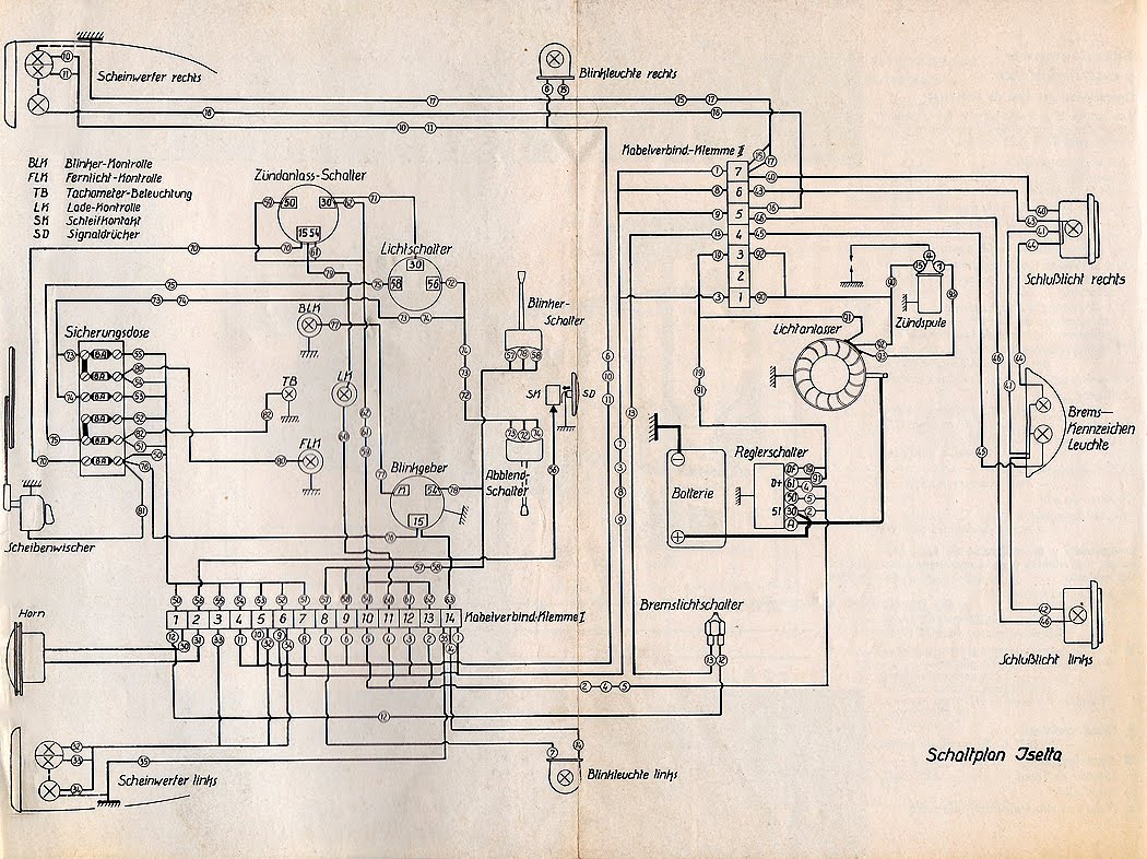 citroen 2cv ignition wiring diagram