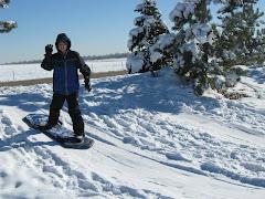 Kyle sledding