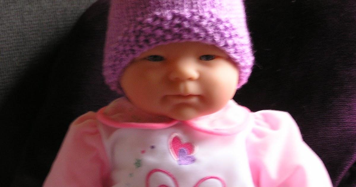 Bella Baby Knitting Patterns : Bella Bambina Knits: Seed Stitch Brim Baby Hat