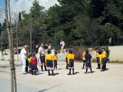 Cub Scouts playing