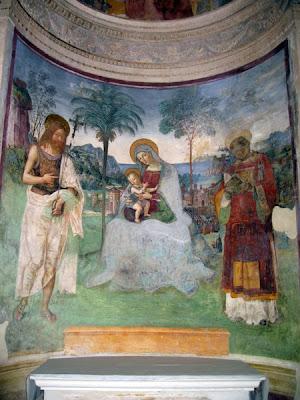 Pinturicchio fresco - Cappella Eroli