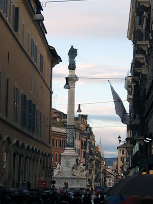 Looking towards Piazza di Spagna